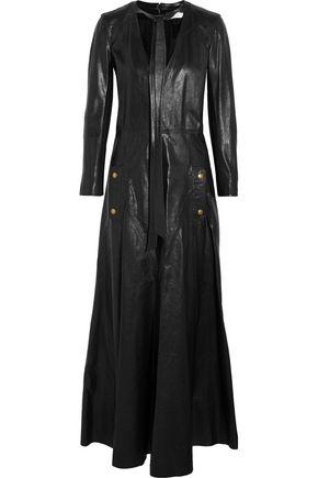 CHLOÉ Leather maxi dress