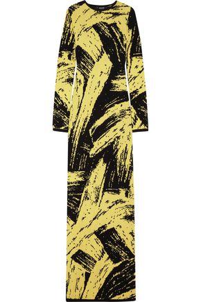 SIBLING Intarsia wool maxi dress