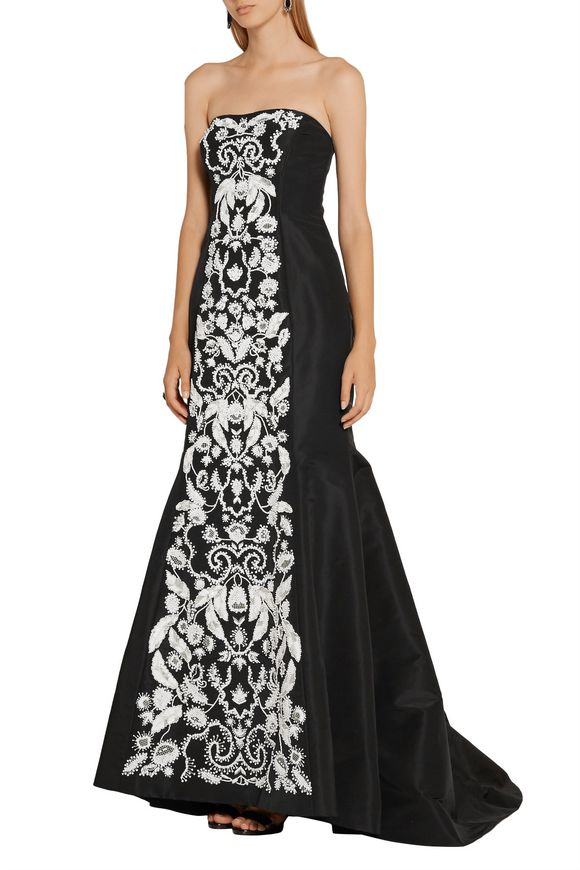 Strapless embellished silk-faille gown | OSCAR DE LA RENTA | Sale up to 70%  off | THE OUTNET