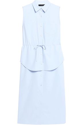 ALEXANDER WANG Tiered crepe midi shirt dress