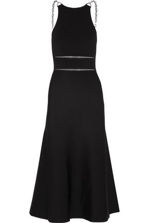 ALEXANDER WANG Chain-embellished stretch-knit midi dress