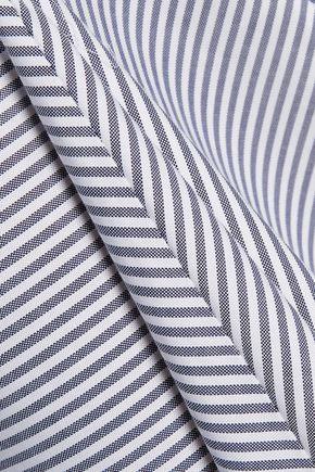 ROKSANDA Ibsen striped cotton-twill midi dress