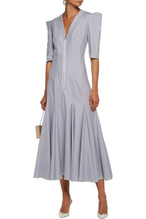 ROKSANDA Ibsen striped cotton-twill midi dress