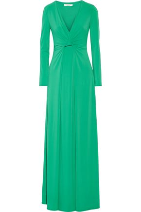 HALSTON HERITAGE Draped stretch-jersey gown