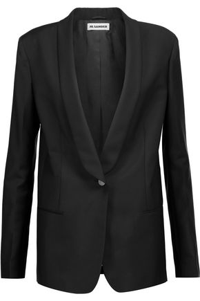 JIL SANDER Wool and mohair-blend blazer