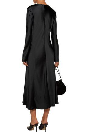 JIL SANDER Satin midi dress