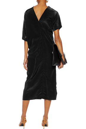 JIL SANDER Draped shell midi dress