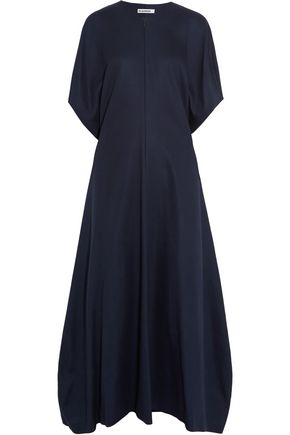 JIL SANDER Cotton midi dress