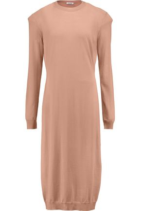 JIL SANDER Wool midi dress
