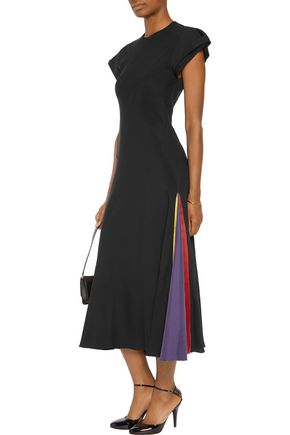 ROKSANDA Thiele hammered silk-trimmed silk-georgette gown