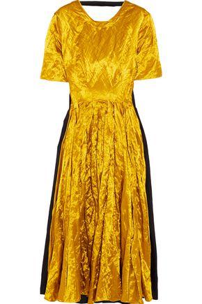 ROKSANDA Brandor crinkled satin-twill maxi dress