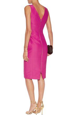 ANTONIO BERARDI Stretch cotton and silk-blend dress