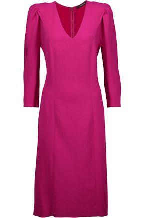 DEREK LAM Gathered wool-blend mini dress