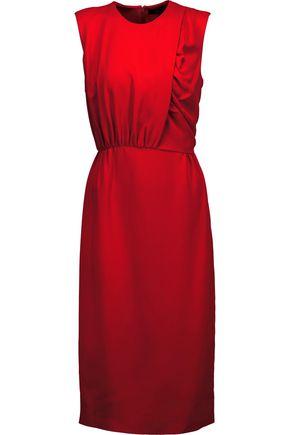 DEREK LAM Ruched silk-crepe dress