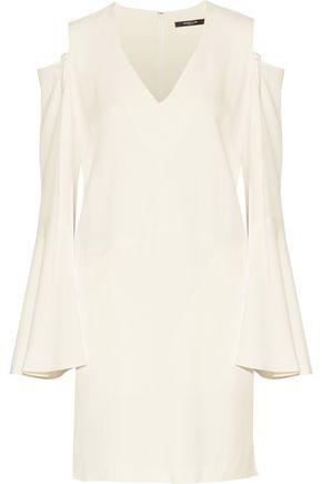 DEREK LAM Cold-shoulder crepe mini dress