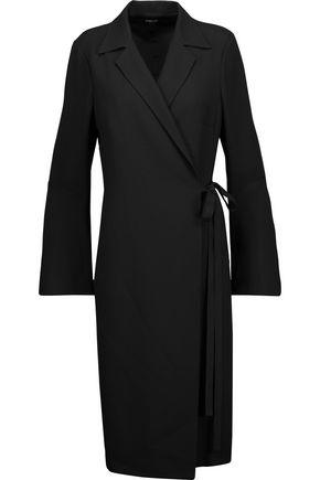 DEREK LAM Textured-crepe mini wrap dress