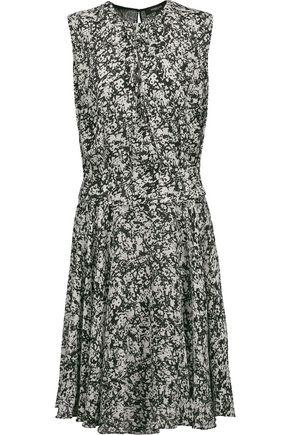 DEREK LAM Layered printed silk-georgette midi dress