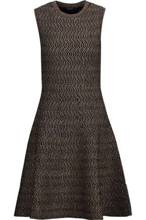 DEREK LAM Metallic jacquard-knit mini dress