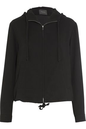 THEORY Charlia crepe hooded jacket