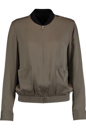 THEORY Baharah silk crepe de chine bomber jacket