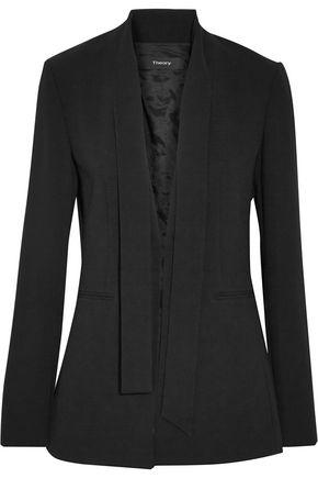 THEORY Alkrine Admiral tie-neck crepe blazer