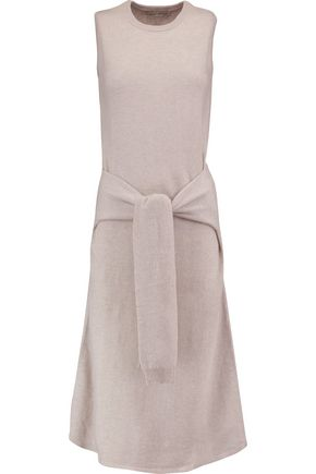 AUTUMN CASHMERE Tie-front cashmere dress