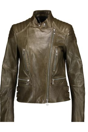 BELSTAFF Sidney quilted and smooth leather biker jacket