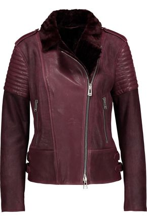 BELSTAFF Ellsworth paneled suede and leather jacket