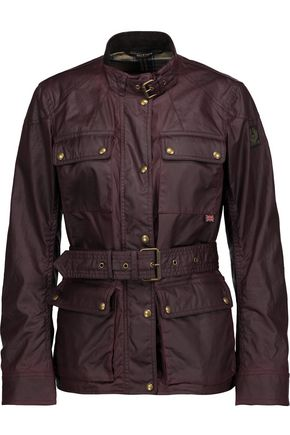 BELSTAFF Roadmaster 2.0 belted coated cotton-canvas jacket