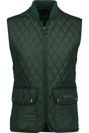 Belstaff WOMAN WICKFORD QUILTED SHELL VEST EMERALD