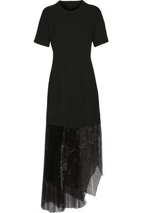 BELSTAFF Garnet plissé organza-paneled crepe midi dress