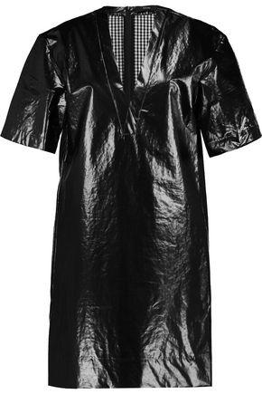 ELLERY Clockwork coated-cotton shell mini dress