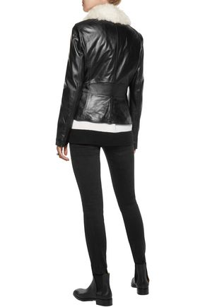 BELSTAFF Roxie shearling-trimmed leather jacket