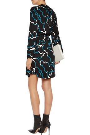 DIANE VON FURSTENBERG Lindi printed silk-blend crepe de chine mini dress