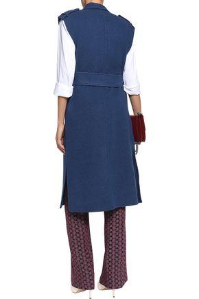 SANDRO Belted wool-blend vest