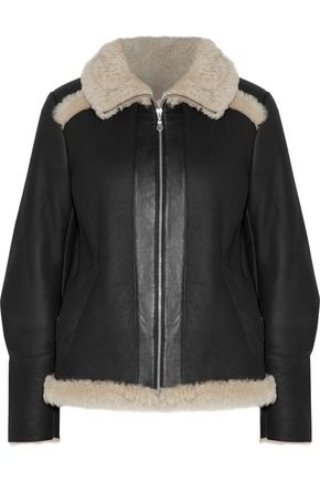 KARL DONOGHUE Leather-trimmed shearling jacket