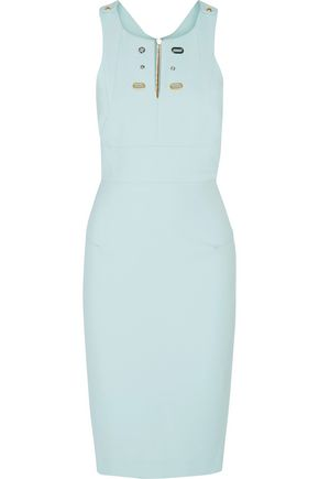 ROLAND MOURET Orpington eyelet-embellished crepe dress