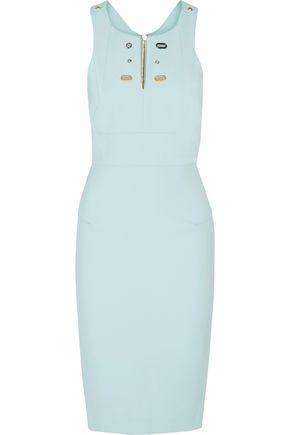 ROLAND MOURET Orpington eyelet-embellished crepe dress
