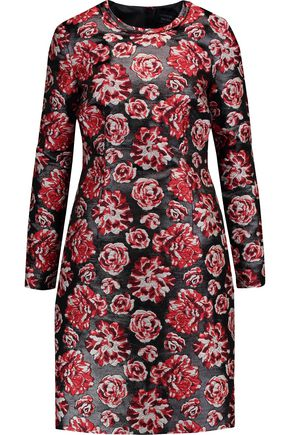 LANVIN Metallic floral-jacquard dress