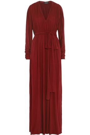 LANVIN Pleated jersey maxi dress