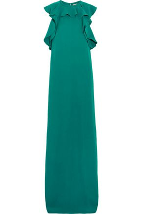 LANVIN Ruffled crepe gown