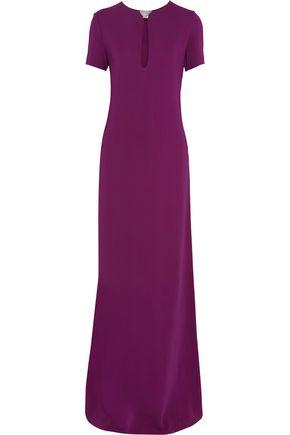 LANVIN Crystal-embellished crepe gown
