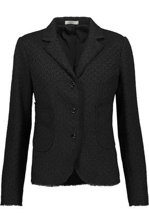 NINA RICCI Iridescent fringed tweed jacket