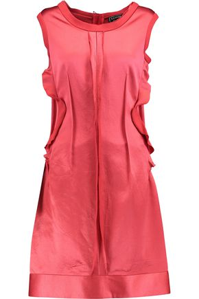 LANVIN Ruffle-trimmed silk-satin dress