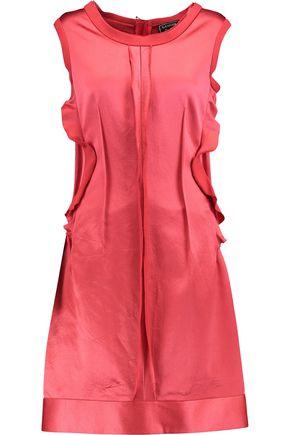 LANVIN Ruffle-trimmed silk-satin dress