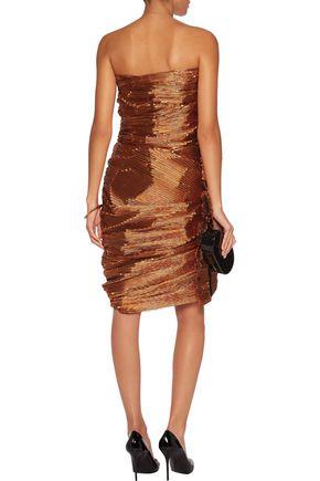 LANVIN Ruched lamé mini dress