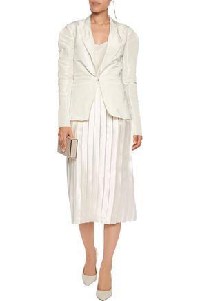 LANVIN Ruched bow-embellished twill blazer