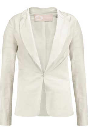 LANVIN Ruched bow-embellished twill blazer