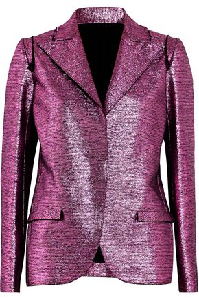 LANVIN Metallic coated-cotton blazer