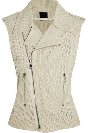RTA Perforated leather gilet